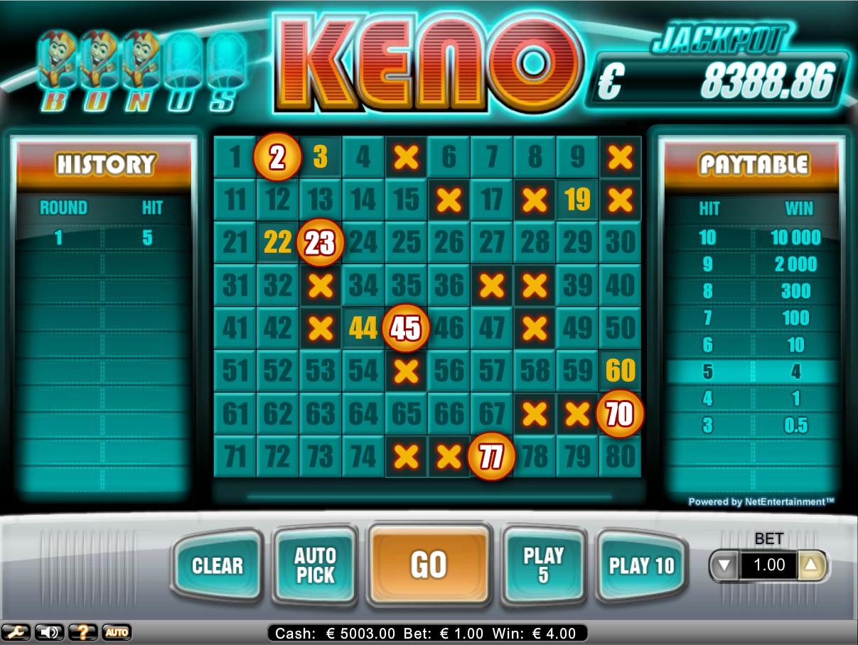 Keno Gambling Deposit Bonus Keno Online 2018 Guide The Lottery