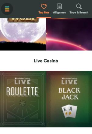 casumo live casino mobile
