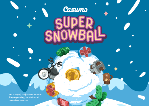 The Casumo Super Snowball–A weekly draw with prizes of up to €10000