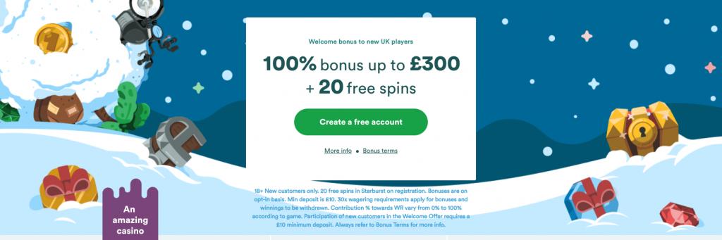 Casumo Free Spins UK