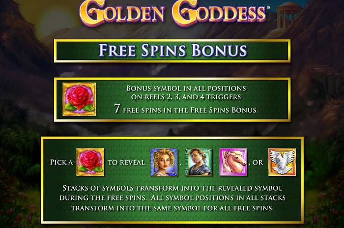 Golden Goddess Free Spins