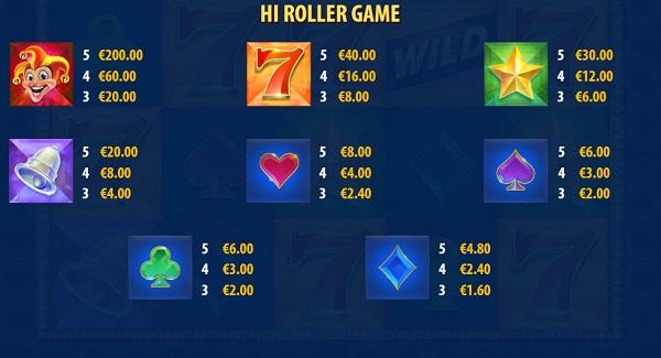 Joker Strike Hi Roller Pays