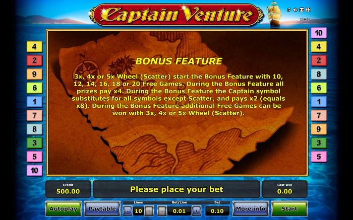 Captain Venture Bonus Feature