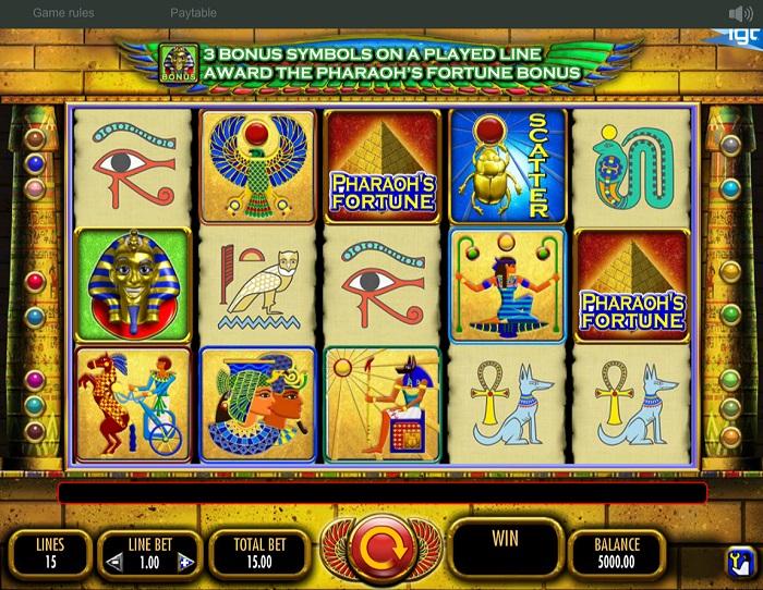 Pharaoh's Fortune Reels