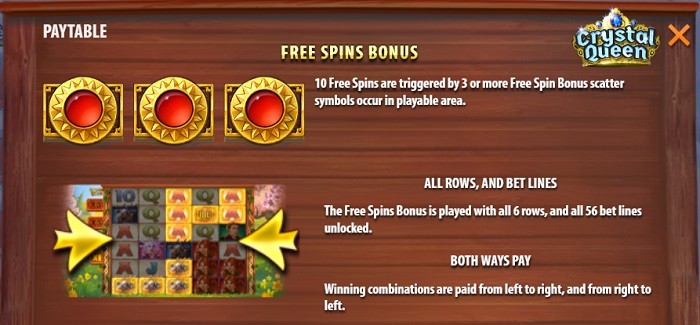 Crystal Queen Free Spins