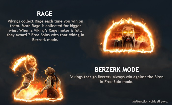 Vikings Go Bezerk Features