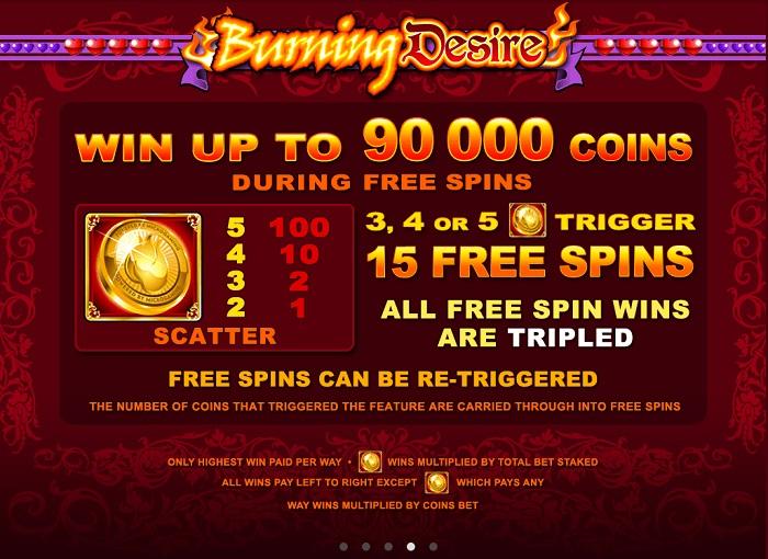 Burning Desire Free Spins