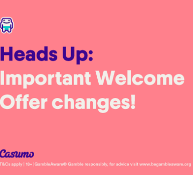 Changes to the Casumo Welcome Offer